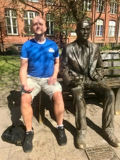Mark&Alan Turing Statue Manchester