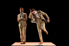he dancers are: Joshua Kyle-Cantrill (Mutt), Aaron Rahn (Jeff).